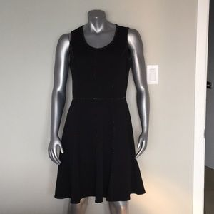 Taylor black with sparkly trim fit and flare dress